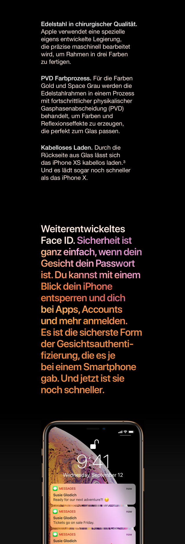 Face ID. Sicherheit ist ganz einfach, wenn dein Gesicht dein Passwort ist.