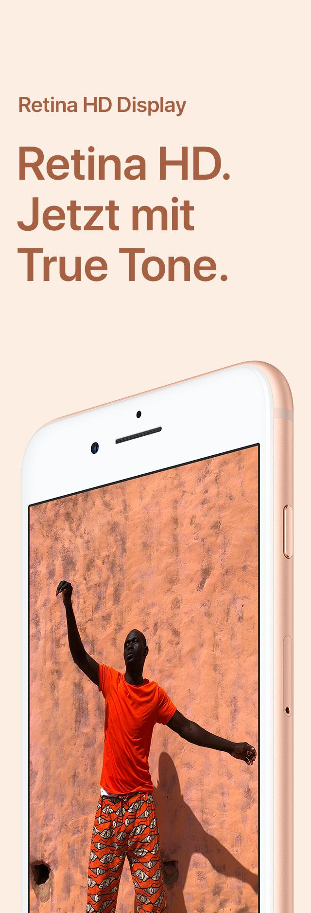 iPhone 8 Retina HD Display Großaufnahme