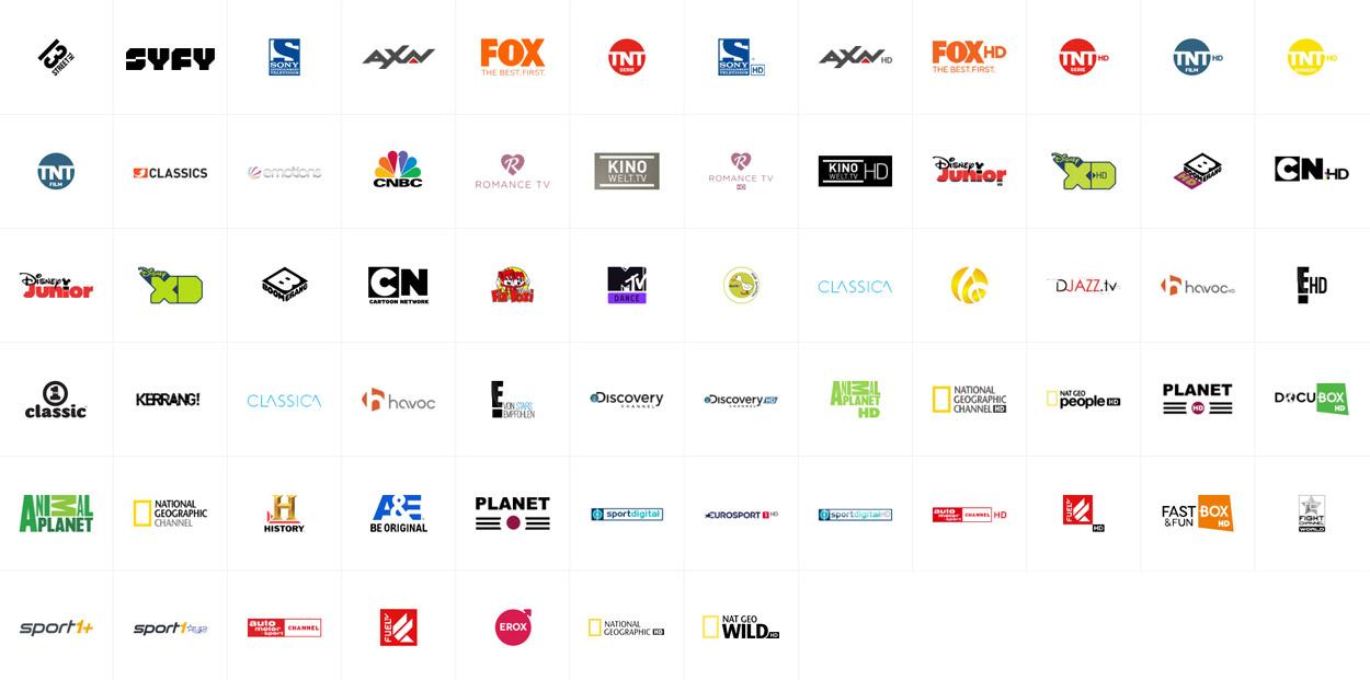 Senderliste A1 TV Premium