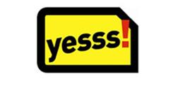 gelbe SIM-Karte mit schwarzer Umrandung; darin befindet sich der Schriftzug yesss!