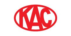 roter Schriftzug KAC auf weißem Hintergrund