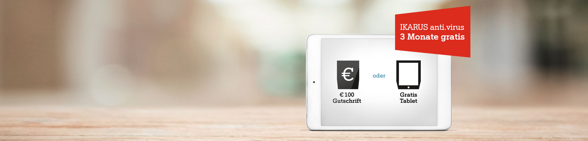 100 Euro Gutschrift oder Gratis Tablet bei Neubestellung Festnetz-Internet Business