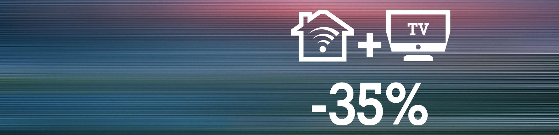 Internet 300 Mbit und TV 35% guenstiger