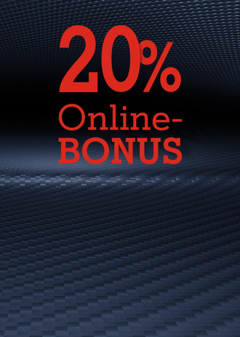 20% Online Bonus
