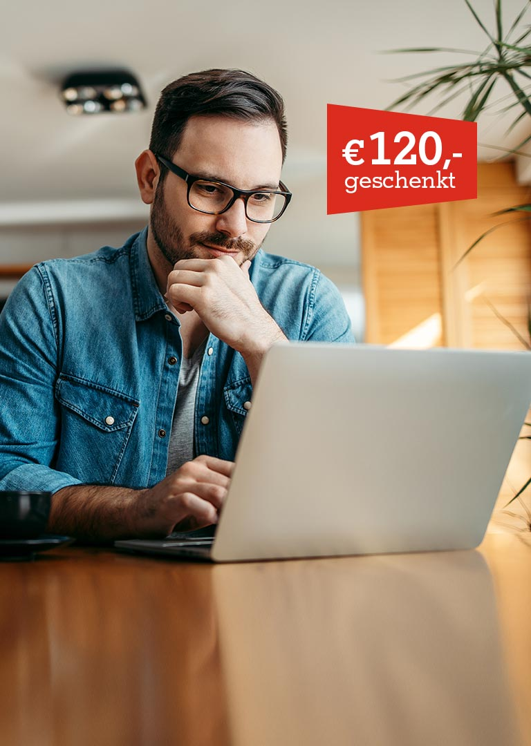 A1 Business Internet und Euro 120,- auf Business Laptop geschenkt.