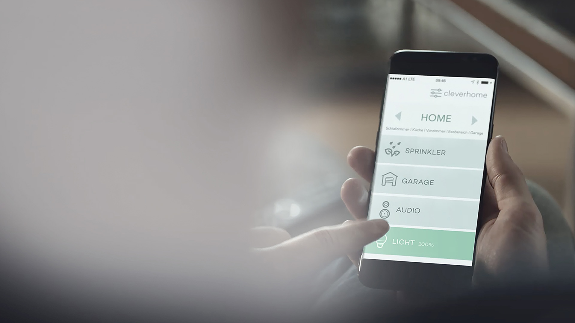 Smartphone mit cleverhome App