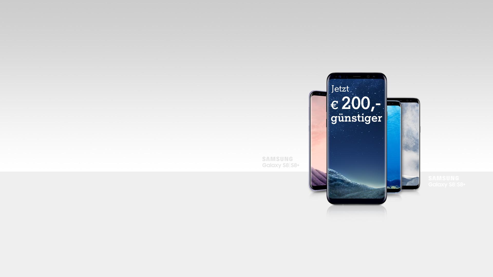 Samsung Galaxy S8 €200,- günstiger