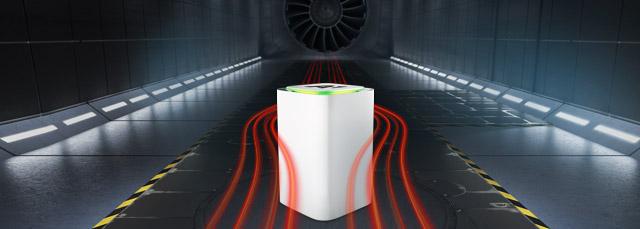 A1 Net Cube im Windkanal