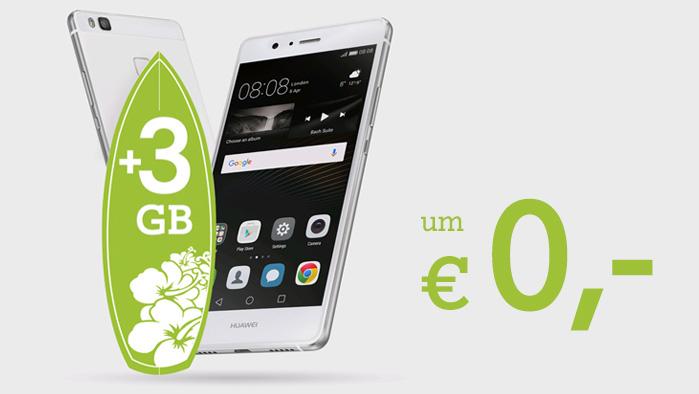 Huawei P9 Lite ab € 0,- in den A1 Go! Smartphone Tarifen