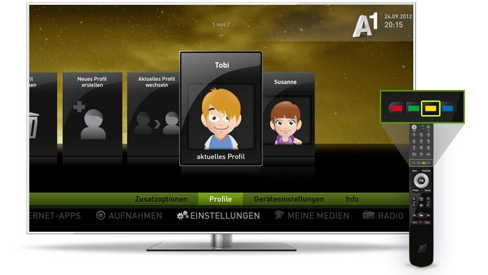 A1 TV Profile & Jugendschutz