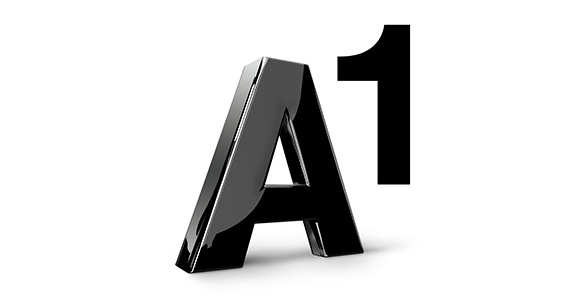 schwarzes A1 Logo